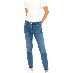 OUI Newport slim high rise stone washed jeans